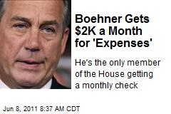 Boehner Gets $2K a Month for 'Expenses'