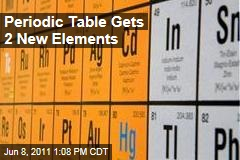 New Elements, Numbers 114 and 166, Officially Added to Periodic Table