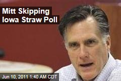 Mitt Romney Skipping Ames Straw Poll