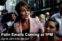 Sarah Palin Emails Released Today