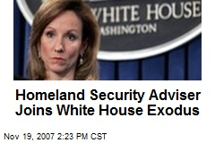 Homeland Security Adviser Joins White House Exodus