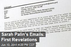 Sarah Palin's Emails: First Revelations