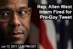 Rep. Allen West Intern Fired for Pro-Gay Tweet