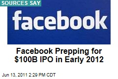 Facebook to Go Public With an Estimated Worth of $100B