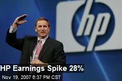 HP Earnings Spike 28%