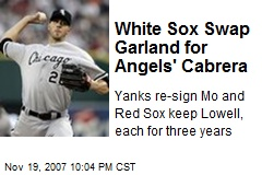 White Sox Swap Garland for Angels' Cabrera