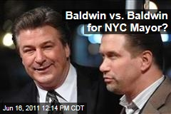 Alec Baldwin vs. Stephen Baldwin for New York City Mayor?
