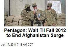 Pentagon to Obama on Troop Withdrawal: End Afghanistan Surge in 2012