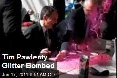 Tim Pawlenty Glitter Bombed