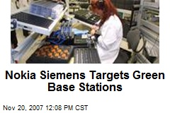 Nokia Siemens Targets Green Base Stations