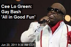 Cee Lo Green: Gay Bash 'All in Good Fun'