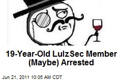 19-Year-Old LulzSec Member (Maybe) Arrested