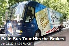 Sarah Palin's Bus Tour Hits the Brakes