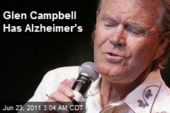 Glen Campbell Has Alzheimer's
