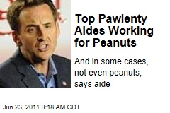 Top Tim Pawlenty 2012 Aides Working for Peanuts—or Zero
