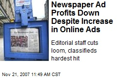 Newspaper Ad Profits Down Despite Increase in Online Ads
