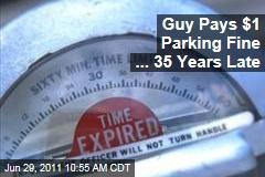 1975 Florida Parking Ticket: Stanley Baker Sends $1 Fine From Michigan