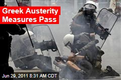 Greek Austerity Measures Pass