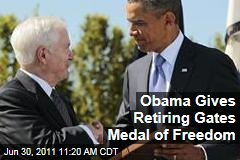 Retiring Defense Secretary Robert Gates Surprised by Presidential Medal of Freedom by Obama on Last Day