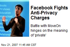 Facebook Fights Anti-Privacy Charges