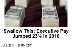 Swallow This: Executive Pay at Big Companies Jumped 23% in 2010