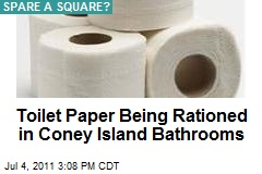 Toilet Paper Being Rationed in Coney Island Bathrooms