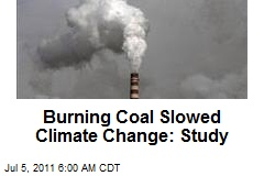 Burning Coal Slowed Climate Change: Study