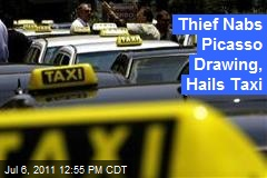 Thief Nabs Picasso Drawing, Hails Taxi