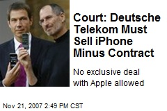 Court: Deutsche Telekom Must Sell iPhone Minus Contract