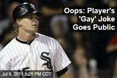 Gordon Beckham's 'Gay' Joke in the Infield Dirt Goes Public