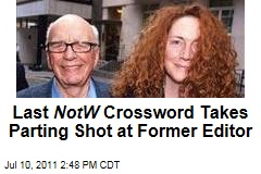 Final 'News of the World' Crossword Puzzle Takes Parting Shot at Rebekah Brooks