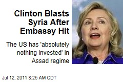 Hillary Clinton Blasts Syria's Bashar al-Assad After Embassy Hit