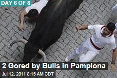 Pamplona Bulls Gore Two More Runners