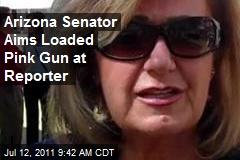 Arizona Senator Aims Loaded Gun at Reporter