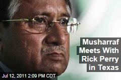 Texas Governor Rick Perry Meets With Former Pakistan President Pervez Musharraf