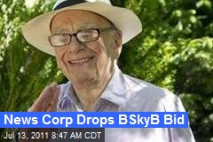 News Corp Drops BSkyB Bid
