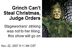 Grinch Can't Steal Christmas, Judge Orders