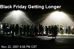 Black Friday Getting Longer