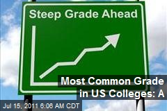 Most Common Grade in US Colleges: A