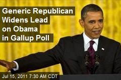 Generic Republican Widens Lead on Obama in Gallup Poll