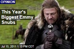 Emmy Nominations 2011: This Year's Biggest Snubs