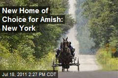 New Home of Choice for Amish: New York
