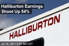 Halliburton Earnings Shoot Up 54%