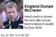 England Dumps McClaren