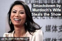 Rupert Murdoch's Wife, Wendi Deng, Smacks Pie-Thrower, Steals Show at Parliament Phone-Hacking Hearing