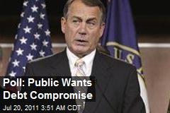Poll: Public Wants Debt Compromise