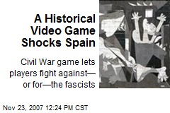 A Historical Video Game Shocks Spain