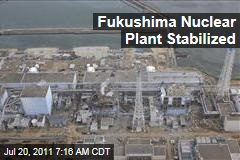 Japan's Fukushima Dai-ichi Nuclear Power Plant Stabilized: Officials
