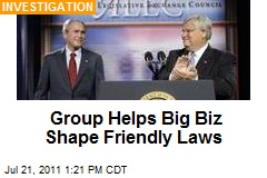 Group Helps Big Biz Shape Friendly Laws