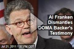 Senator Al Franken Trounces Defense of Marriage Act Backer's Case